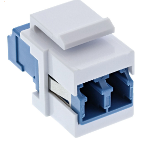 Accoppiatore LWL Keystone Snap-in Duplex LC/LC bianco, monomodale, manicotto in