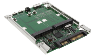 """Adattatore 2,5"""", SATA & USB 3.0 a 2x mSATA, RAID 0,1,JBOD,SPAN, converter unità"""