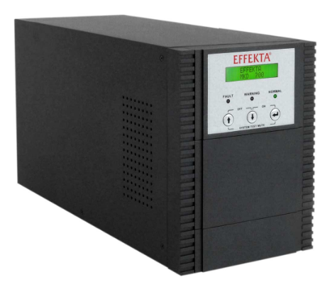 UPS 700 VA, Online double-conversion, Aut. 115 min., Tower nero (cabinet batteri