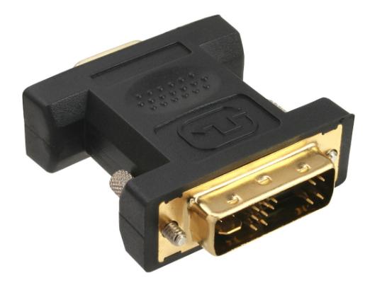 Adattatore DVI-A 12+5 maschio a VGA 15pin HD femmina, analogico, dorato