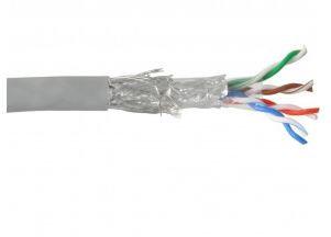 InLine® Cavo LAN Cat.5e, SF/UTP, 4x2xAWG 24/1 (rigido), CU (100% rame), BOX 50MT
