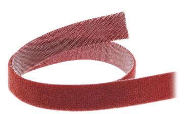 Banda in velcro tagliabile a misura, rotolo da 10m, larghezza 16mm, rosso