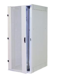 "Rack 19"" da pavimento smontabile, 800x800, 42U, IP20, porta in vetro, grigio chi"