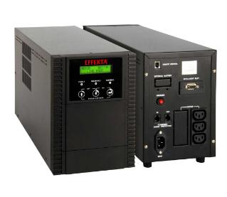 EFFEKTA USV MTD 2000 VA, Line-Interactive Sinus, 4 min., Tower, nero