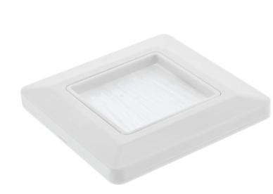 Cornice InLine® per il passaggio di spazzole, per TV, bianco, RAL9010