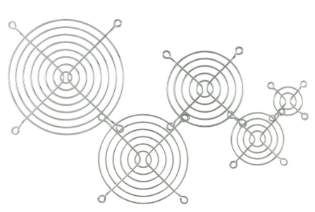 Griglia in metallo per ventole da 92x92mm, cromata