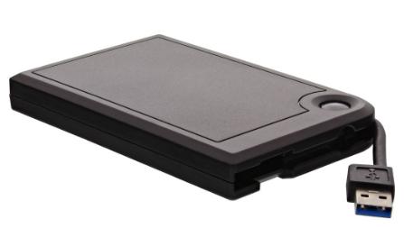 """HDD Box Esterno USB 3.1 per SDD e dischi SATA 6,35 (2,5"""" / Max H = 9,5mm)"""