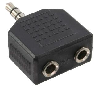 Adattatore Audio, 3,5mm Jack maschio a 2x 3,5mm Jack femmina, Stereo, sdoppiator