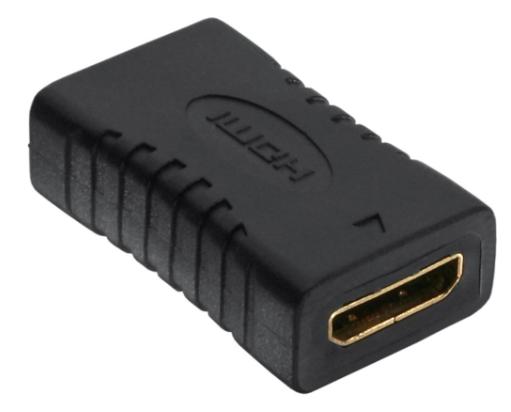 Adattatore Mini HDMI Typ C femmina/femmina, dorato