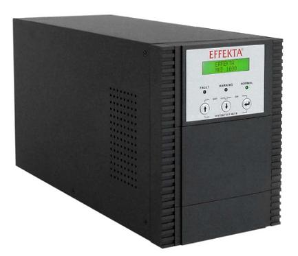 UPS 1000 VA, Online double-conversion, Aut. 105 min., Tower nero (cabinet batter