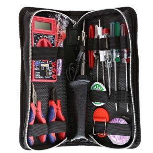 Saldatore e utensili per saldature a stagno con multimetro, assortimento 15pz,