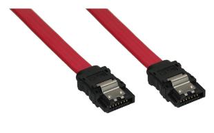 Cavo SATA I (1,5Gb/s), SATA a SATA, 0.5m, rosso, chiusura a scatto