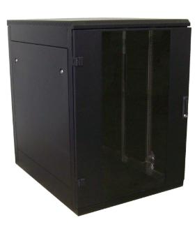 """Rack 19"""" da pavimento, 800x800, 22U, IP20, porta in vetro, nero (Triton RMA-22-A"""