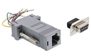 Adattatore modulare telefonico RS232 Sub-D 9pin femmina a RJ45 femmina, configur