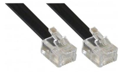 Cavo Modulare telefonico, RJ12 6P/6C maschio a RJ12 6P/6C maschio (6 fili), 10m