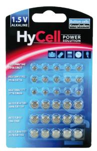 Batteria Bottone Alcalina, Set 5 formati, Blister 30pz (Ansmann HyCell 5015473)