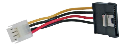 """Cavo alimentazione interno da 4 pin Floppy ( 3,5"""" ) maschio a SATA 15 pin femmin"""