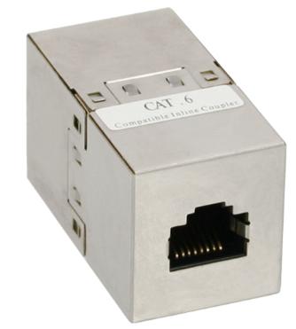 Adatatore RJ45 femmina/femmina Cat.6 schermato, in metallo, accoppiatore cavi re