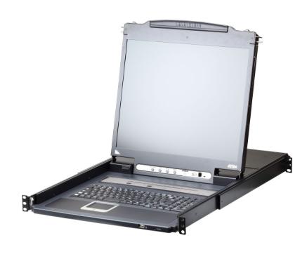 """Aten CL5808N-ATA, LCD 19"""" KVM Switch 8 porte, VGA USB PS/2 (DE-Layout - IT a ric"""
