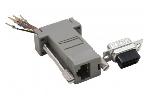 Adattatore modulare telefonico RS232 Sub-D 9pin maschio a RJ45 femmina