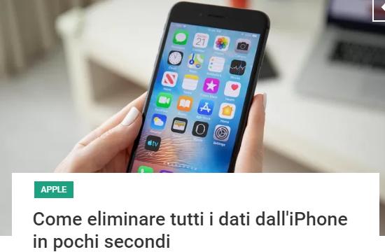 Cancellare Iphone