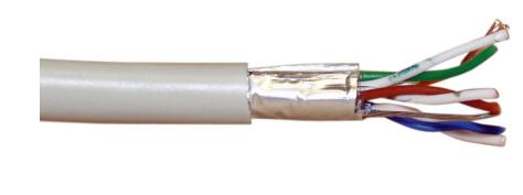 Cavo LAN Cat.5e, F/UTP, 4x2xAWG 26/7 (flessibile), CCA (lega rame/alluminio), gu