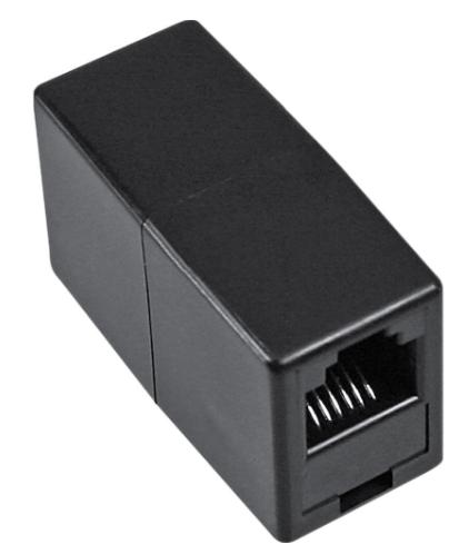 Adattatore telefonico modulare RJ12 femmina / femmina, accoppiatore