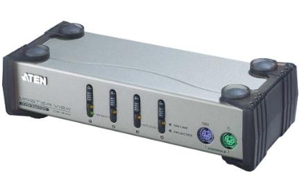 Aten CS84A, KVM Switch, 4 porte, PS/2 VGA, Kit cavi inclusi, porte console front
