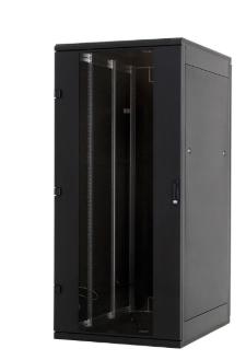 """Rack 19"""" da pavimento, 600x800, 22U, IP20, porta in vetro, nero (Triton RMA-22-A"""