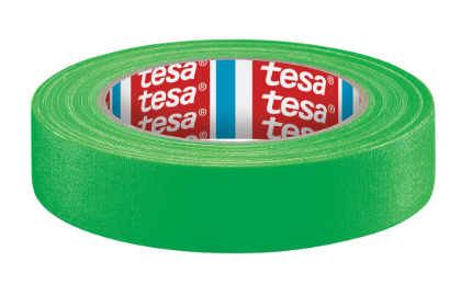nastro in tessuto tesa, 25m x 19mm, verde neon