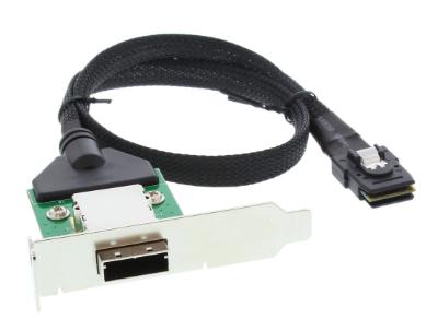Adattatore SAS su staffa PCI low profile da 26-pin Mini SAS (SFF-8088) esterno