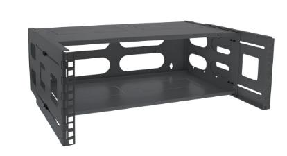 """Rack 19 """"InLine® per montaggio a parete, 4U, profondità 24-40 cm, con coperchio,"""