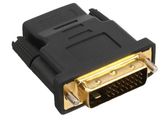 Adattatore HDMI-DVI, Typ A femmina a DVI-D 24+1 maschio, dorato, 4K2K Compatibil