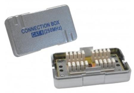 Accoppiatore cavi rigidi Cat.6 con modulo di giunzione LSA, schermato (bulk)