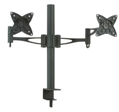 """Supporto TV Tavolo 33-68cm (13""""/27"""") 2x 15Kg, braccio doppio, Staffa Monitor"""