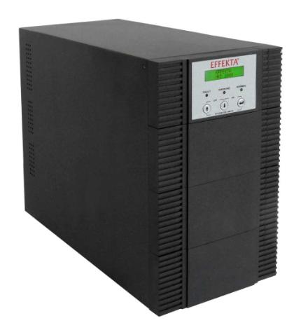 UPS 3000 VA, Online double-conversion, Aut. 6 min., Tower nero, EFFEKTA MKD