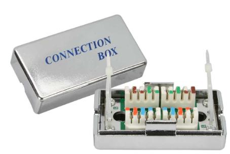 Accoppiatore cavi rigidi Cat.5e con modulo di giunzione LSA, schermato a 100Mhz