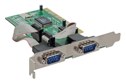 Scheda seriale aggiuntiva, I/0-Controller, 32-bit PCI Bus, 2x Sud-D 9pin maschio
