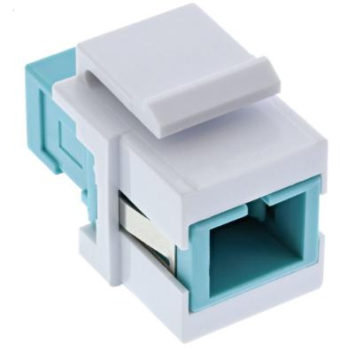 Accoppiatore LWL Keystone Snap-in a scatto, Simplex SC/SC, multimodale, manicott