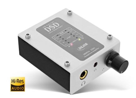 Amplificatore cuffie AmpUSB Hi-Res AUDIO 384kHz/32-Bit, DSD, USB Digital Audio