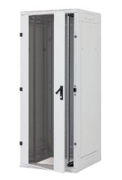 "Armadio Rack 19"" da pavimento, 42U, 800x1200, 1200Kg, porta in vetro, grigio chi"