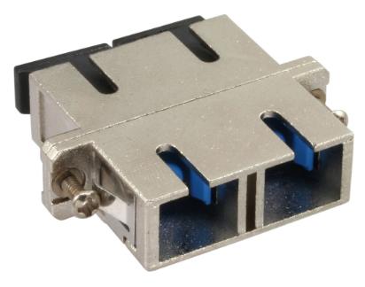 Bussola SC/SC Duplex fibra monomodale, manicotto ceramico, adattatore in metallo