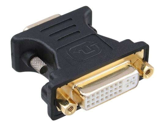Adattatore DVI-A 24+5 femmina a VGA 15pin HD maschio, analogico, dorato