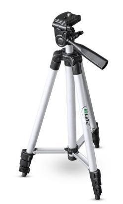 Treppiedi telescopico 530 - 1300mm, alluminio, cavalletto fotocamere e videocame