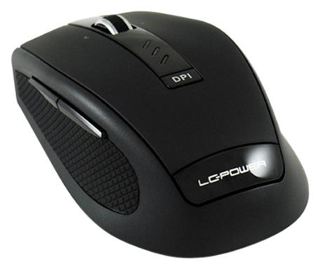 Wireless Mouse, ottico, 1000/1500/2000dpi, USB receiver, nero, LC-Power m800BW