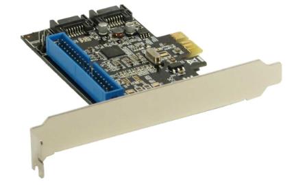 Scheda Controller HDD SATA 6Gb/s + IDE RAID, 2 canali, PCIe ( PCI-Express ) 2.0,