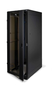 """Triton Rack 19"""" da pavimento, 600x600, altezza 32U, IP20, porta in vetro, grigio"""