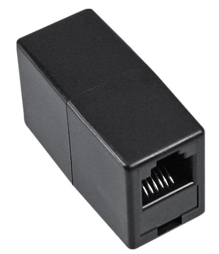 Adattatore telefonico modulare RJ11 femmina / femmina, accoppiatore