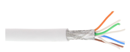Cavo LAN Cat.6A (10Giga), S/FTP (PIMF), 4x2xAWG 26/7 (flessibile), CU, 100MT