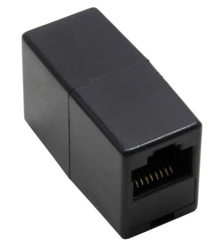 Adattatore telefonico ISDN RJ45 femmina / femmina, accoppiatore